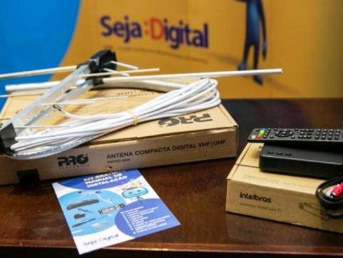 Mais de 32 mil famílias receberam kits de TV Digital na região