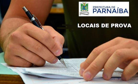 Locais de prova do concurso da Prefeitura de Parnaíba estão disponíveis